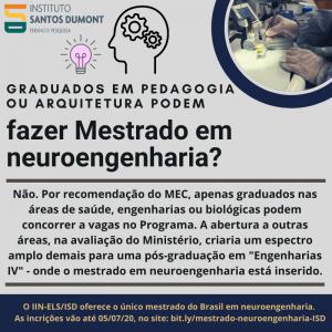 Quem pode fazer mestrado em neuroengenharia (1)
