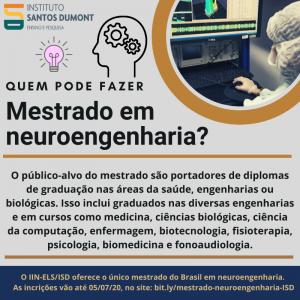 Quem pode fazer mestrado em neuroengenharia (2)