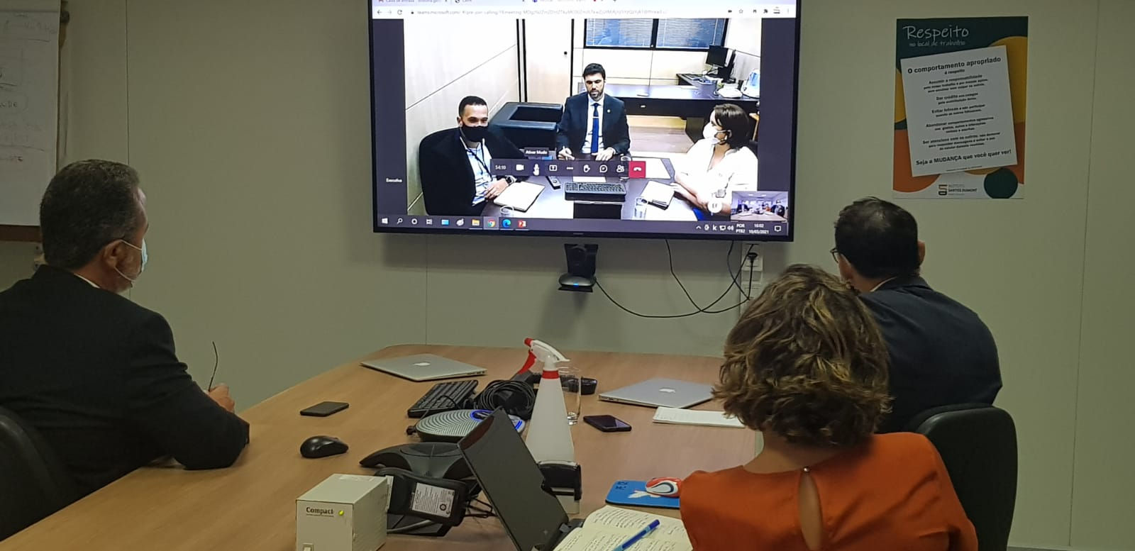 10.03.2021 - Dirigentes do ISD em videoconferência com o MEC para retomada das negociações sobre renovação do contrato (2)