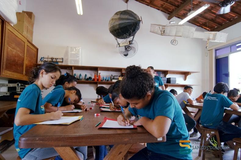 Oficina Ciência e Tecnologia, CEC Macaíba. Foto: Ariane Mondo - Ascom ISD