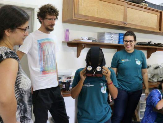 IIN-ELS leva realidade virtual ao CEC Macaíba para explicação sobre sistema digestório