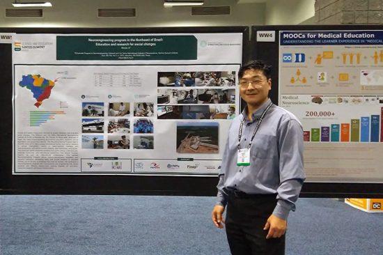 Coordenador de pesquisas do IIN-ELS, Edgard Morya, apresenta pôster no Neuroscience
